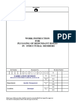 Work Instruction for Pluging Redundant Holes in Structural Members