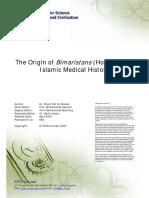 The Origin of Bimaristans in Islamic Medical History