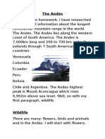 the andes 6