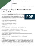 Resolução Da Prova de Matemática Financeira–ICMS RJ 2014 _ Blog de Exatas Para Concursos
