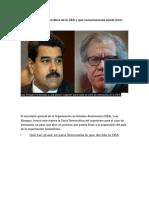 Qué Es La Carta Democrática de La OEA y Qué Consecuencias Puede Tener Para Venezuela