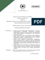 Undang-Undang Nomor 9 Tahun 2015 tentang Perubahan Kedua atas Undang-Undang Nomor 23 Tahun 2014 tentang Pemerintah Daerah