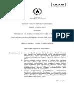 Undang-Undang Nomor 1 Tahun 2014 tentang Perubahan UU No. 27/2007 tentang Wilayah Pesisir dan Pulau-Pulau Kecil