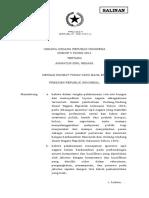 Undang-Undang Nomor 5 Tahun 2014 tentang Aparatur Sipil Negara