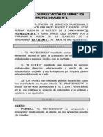 Contrato de Prestación de Servicios Profesionales n