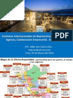 Contratos Internacionales Representacion Distribucion Agencia Colaboracion Joint Ventures 2016 Keyword Principal