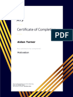 certificate for aidan turner in motivation
