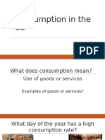 consumption in the us