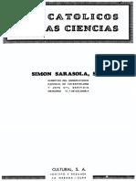SARASOLA, S., La obra de los catolicos y creyentes en las ciencias  fisicas y matemáticas, Cultural, La Habana 1944.pdf