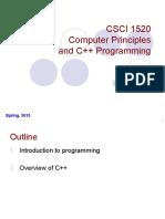 Lec01 Intro CSCI C++