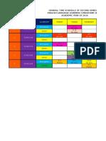 Schedule Term II 16