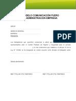 Carta Fuero Administracion Empresa