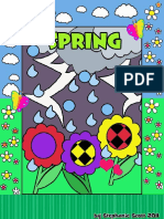 4 Seasons Colouring Cards- Spring