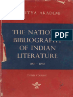 The National Bibliography of Indian Literature (1901-1953) Vol. 3 (Panjabi) - Dr. Ganda Singh