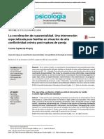 La Coordinación de Coparentalidad Intervención Especializada Familias Alta Conflictividad Crónica Post-ruptura de Pareja