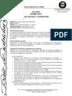 SYLLABUS Electricidad y Magnetismo (C) Otoño 2015