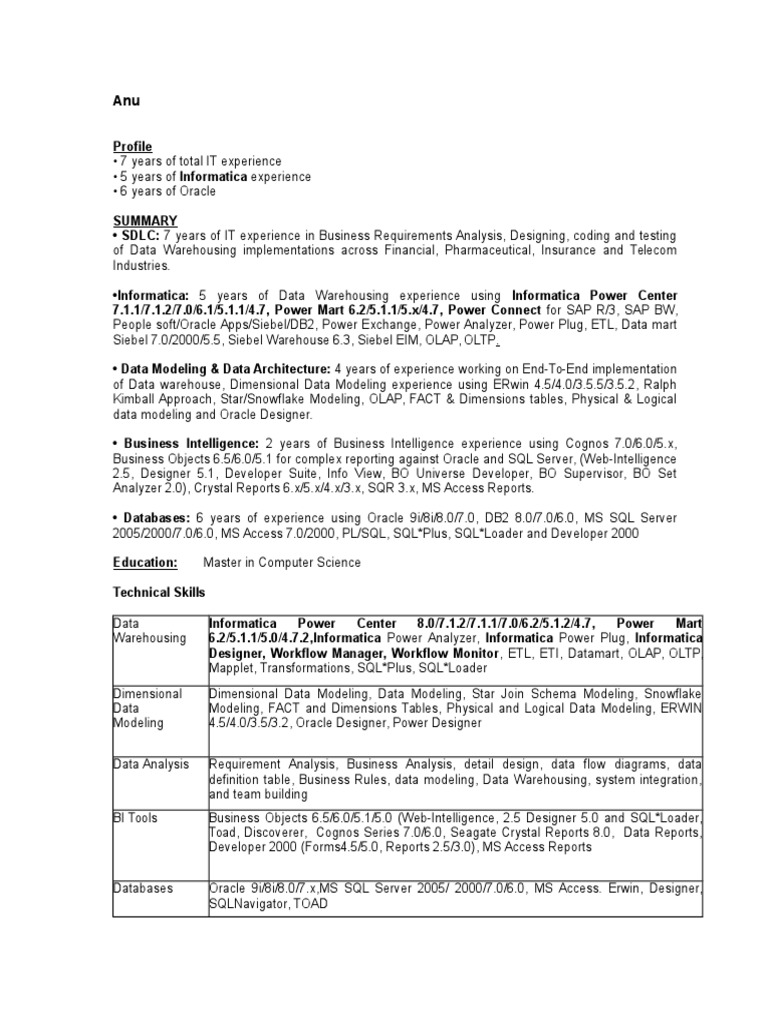 business objects architect resume business contracts sample