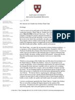 ALI Health Care Reform Think Tank Invitation Letter