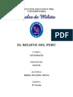 Relieve Del Perú