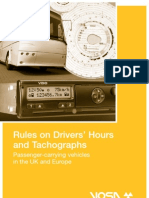 Drivers Hours tachograph Rules