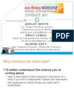 How to Conduct an Interview - Instructional Slides