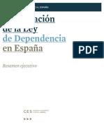 La Aplicación de La Ley de Dependencia en España