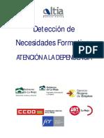 Deteccion Necesidades Formativas Atencion Dependencia