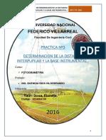 DETERMINACION DE LA DISTANCIA INTERPUPILAR Y LA BASE INSTRUMENTAL