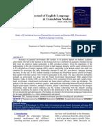 Study of Correlation Between Parental Involvement and Iranian EFL Preschoolers' English Language Learning