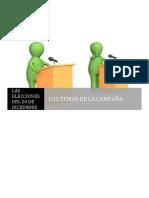 Los Temas de La Campaña Elecciones 20-n