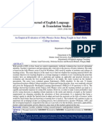 An Empirical Evaluation of Jolly Phonics Series Being Taught in Iran's Baby College Institutes