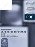 Lorenzo Cimador Maritime Acronyms and Abbreviations 2003