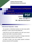 Lecture 9 International Credit Market en