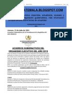 Acuerdos Gubernativos de La Presidencia de La República Del 2015 (ÍNDICE)