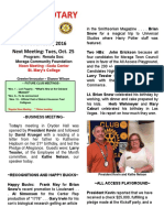 Moraga Rotary Newsletter - Oct 18, 2016