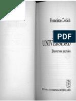 Delich, F. - Mega Universidad - Discursos Plurales