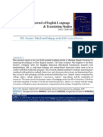 EFL Teachers' Beliefs and Pedagogy in the EAP-Oriented Reform
