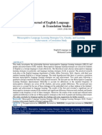 Metacognitive Language Learning Strategies Use, Gender, And Learning Achievement a Correlation Study