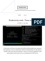 Productivity Tools - Tmux and Zsh