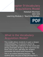 Chapter 9-Vocabulary Acquisitions Model