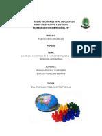 Tema Efectos Economicos de La Evolucion Demografica