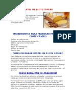 Pastel de Elote Casero