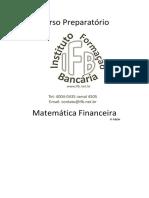 Apostila Matematica Financeira - 1 Edicao