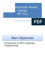 Lecture-2 (Microcontroller Based Design)