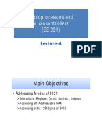 Lecture-4 (Microprocessors and Microcontrollers)