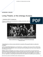 Living Theatre, Or the Ontology of Practice _ Scene Change