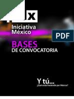 Bases de Convocatoria de Iniciativa México