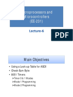 Lecture-6 (Microprocessors and Microcontrollers)