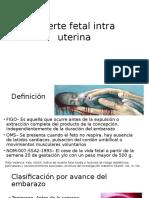 Muerte Fetal Intra Uterina