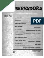 Revista Conservadora No. 31 Abr. 1963